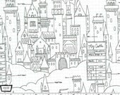 Magic! - Castle Plans White by Sarah Jane from Michael Miller