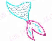 Mermaid Tail - Applique - TAIL ONLY - Machine Embroidery Design - 8 sizes