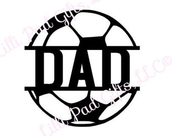 Soccer Ball-DAD-middle - Cut File - Instant Download - SVG and DXFfor Cameo Silhouette Studio Software & other Cutter Machines