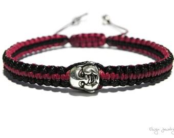 Buddha Bracelet, Buddha Jewelry, Buddhist Bracelet, Macrame Cord Bracelet, Mens Buddha Bracelet, Yoga Bracelet, Positivity Bracelet