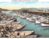 San Francisco, California, Fisherman's Wharf - Vintage Postcard - Unused (D)