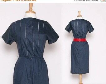 ON SALE Vintage 40s 50s House Wife Dress / Wiggle Dress / Rockabilly / S M
