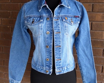 Vintage 80s Denim Jacket / Jean Jacket / Cropped Boho Festival Distressed Stonewash / U.S. Polo Assn. / Soft Grunge / 80s  Clothing  / XS S
