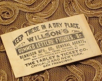 Antique Miniature Ticket Envelopes Set of 4