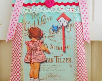 Cute Retro Inspired Lavender Sachet/Home Decor/Door Hanger