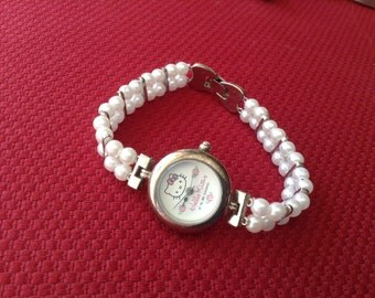 Hello Kitty womens watch vintage bead watch