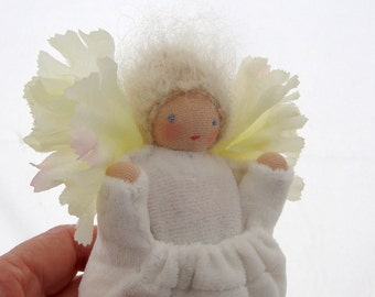 Tooth Fairy Doll // Fairy Godmother doll // White Pocket Doll // Handmade Soft Doll // Waldorf Toy // TFW1