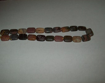 Red Creek Jasper Stone Beads- 15 inch Strand