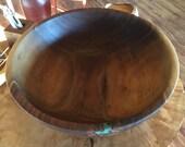 16.25 x 5.75 Inch Black Walnut Bowl
