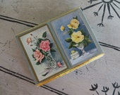 Vintage Congress Playing Cards Poker Cards Bridge Cards Vintage Cards Barware Housewarming Gift Floral Cards Boxed Set Housewarming