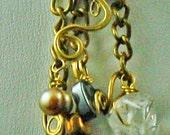 Quartz Dangle Earrings-100% Proceeds to Charity & Free Shipping