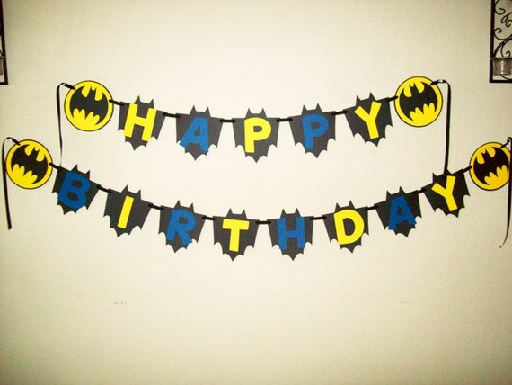 batman party banner name banner happy birthday party