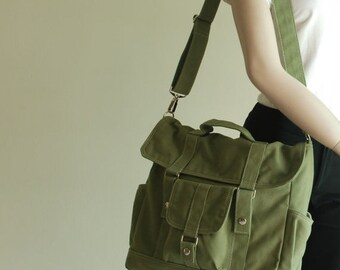 NEW YEAR SALE 30% - Pico2 BackPack Convertible in Army Green (Water Resistant) Unisex / Laptop / Shoulder Bag / Satchel / Rucksack / Messeng