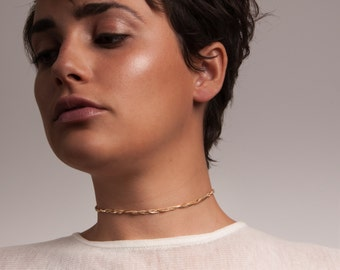Silver or Gold-Fill Fate Choker with Tassle   Sequence Collection by Haley Lebeuf