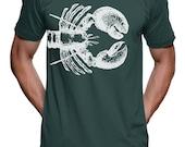 Nautical Lobster T Shirt - American Apparel Tshirt - XS S M L XL XXL Color Options)