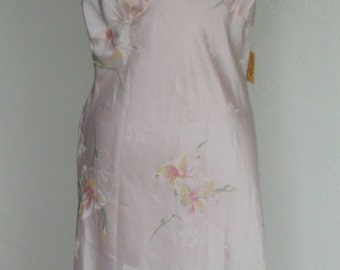Vintage Negligee Nightgown Pink Satin Farr West Lindsey Roscoe NOS