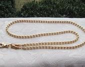 Gold Beaded Lanyard Swarovski Gold Pearl Beaded Lanyard Necklace ID Badge Holder
