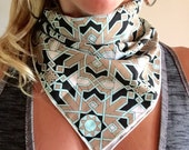 Bandana // Geometric Tiles // Handkerchief // Summer // Music Fesitval