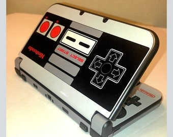 Retro NES Limited Edition Nintendo 3DS or 3DS XL 2015 Skin Original NES Controller Skin Full Cover Front & Back