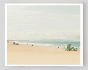 Santa Monica Beach Print, Large Art Print Fine Art Photography, Canvas Wrap, Affordable Wall Art