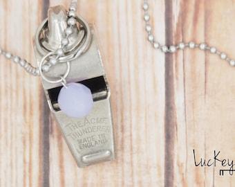 Vintage Whistle Necklace, Whistle Necklace, Acme Thunderer Whistle, Upcycled Jewelry, Upcycled Necklace, Cheerleader Necklace, Cheerleading