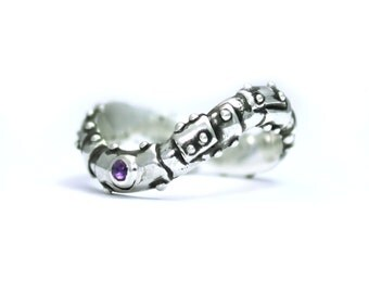Bond Together 'till Infinity ring with amethyst