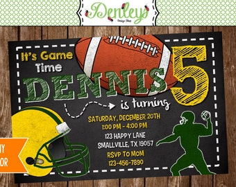 Football Birthday Printable Invitation (GB01)