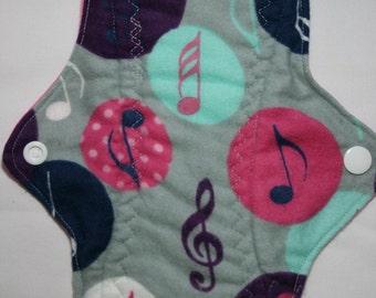 Kiki Mama Cloth Menstrual Pad Size Regular with Music Notes