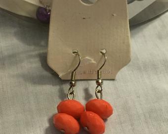 Pink or Orange Earring Drops