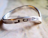 Grace Ring // Personalized in Sterling Silver