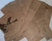 Scrapbook paper destash lot. Tim Holtz Ideology papers for art journal, collage, decoupage, ephemera. 21 pieces