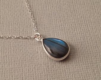 Labradorite Necklace in Sterling Silver