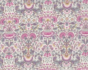 Fat eighth Lodden F, pink and purple Art Nouveau Liberty print