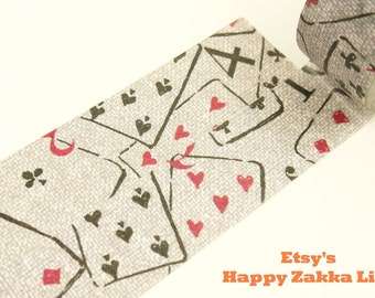 Poker - Japanese Washi Masking Tape - 20mm Wide - 7.6 Yard