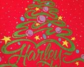 Vintage Harley Davidson Christmas sweatshirt red holiday 38/40 medium
