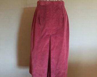 Vintage Corduroy Skirt, size Small
