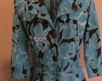 1980's Floral Dress, size Small