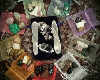 Deluxe Chakra Crystal Healing Set