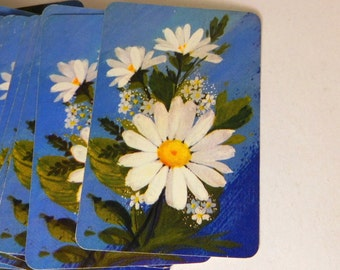 Vintage MINIATURE Playing CARDS - HALLMARK - Daisy - Complete - Made in U.S.A.