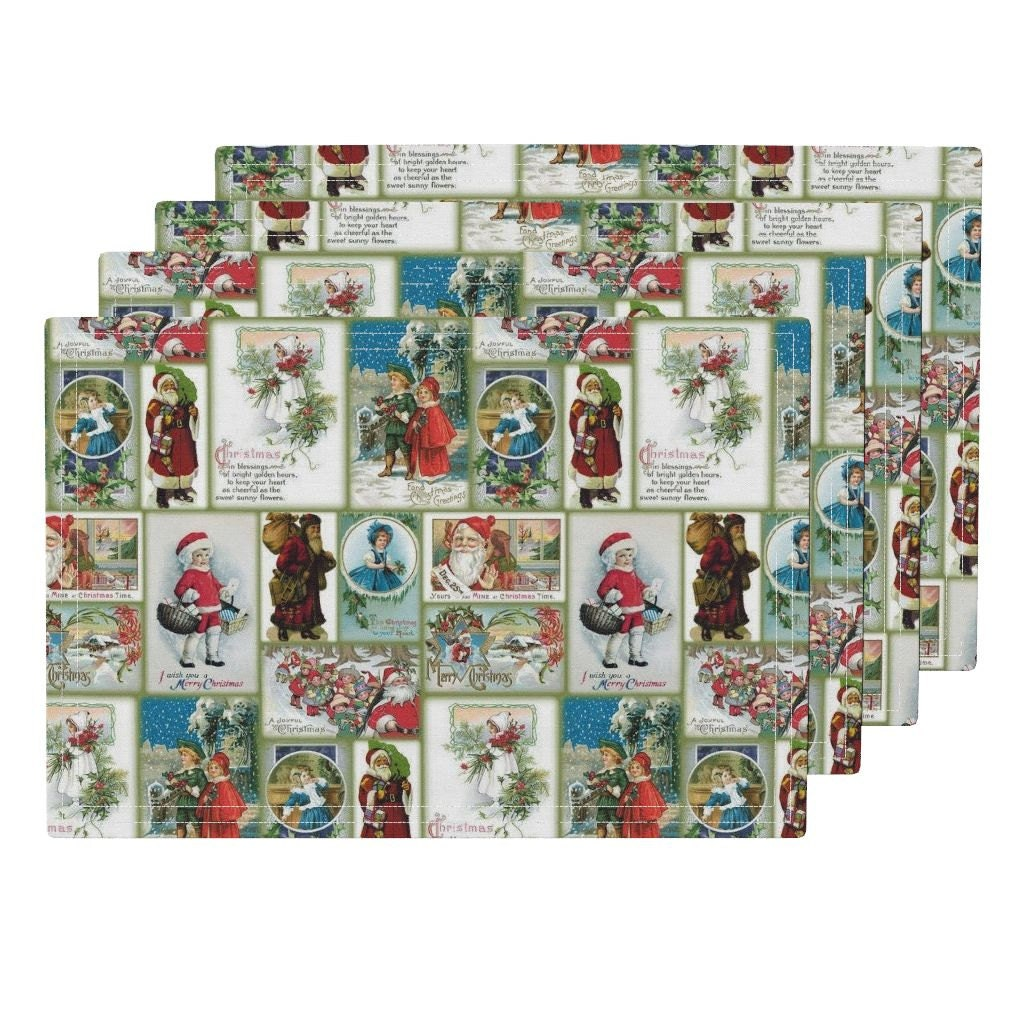 Christmas Placemats Vintage Christmas Table By
