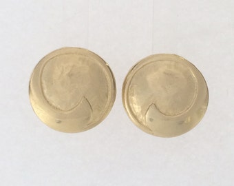 Gold plated post earrings: 2528
