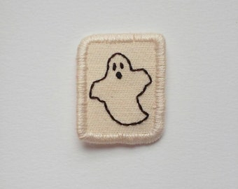 Little Ghost Patch Hand Embroidered Halloween