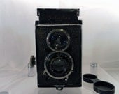 Vintage 1930's Rolleiflex Standard Camera 6x6 K1.  Model 614 Zeiss Tessar  f 3.8-32 lens. Serial No. 105105