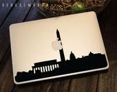 Washington DC Skyline Macbook Decal 1 | Macbook Sticker | Laptop Decal | Laptop Sticker | Car Sticker