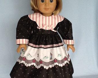 Fits 18 inch doll or American Girl doll. Daisy Kingdom bunny print dress and hair clip.