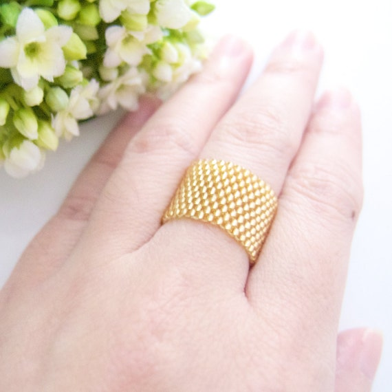 Gold Ring Band / Gold Cigar Ring / For him and her / Classic / Elegant