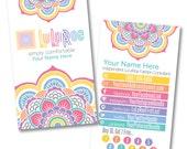 LuLaRoe Custom Business Card Design - Home Office Approved - DIGITAL FILE - Punch Card Loyalty Rewards - Mandala / Flower / Floral