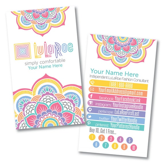Lularoe custom business card design home by lilstarletcouture for Lularoe name cards