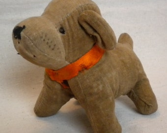 antique straw stuffed puppy vintage STS stuffed animal toy vintage straw stuffed puppy dog stuffed animal