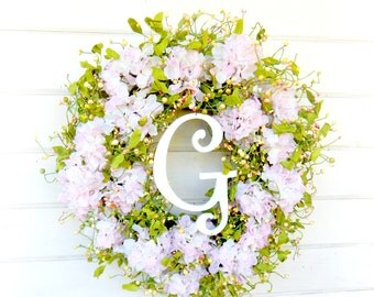 Wedding Decor-Weddings-Wedding Wreath-Hydrangea Wreath-Shabby Chic Wedding-Garden Wedding-Wedding Reception Decor-Gifts-Housewarming Gift
